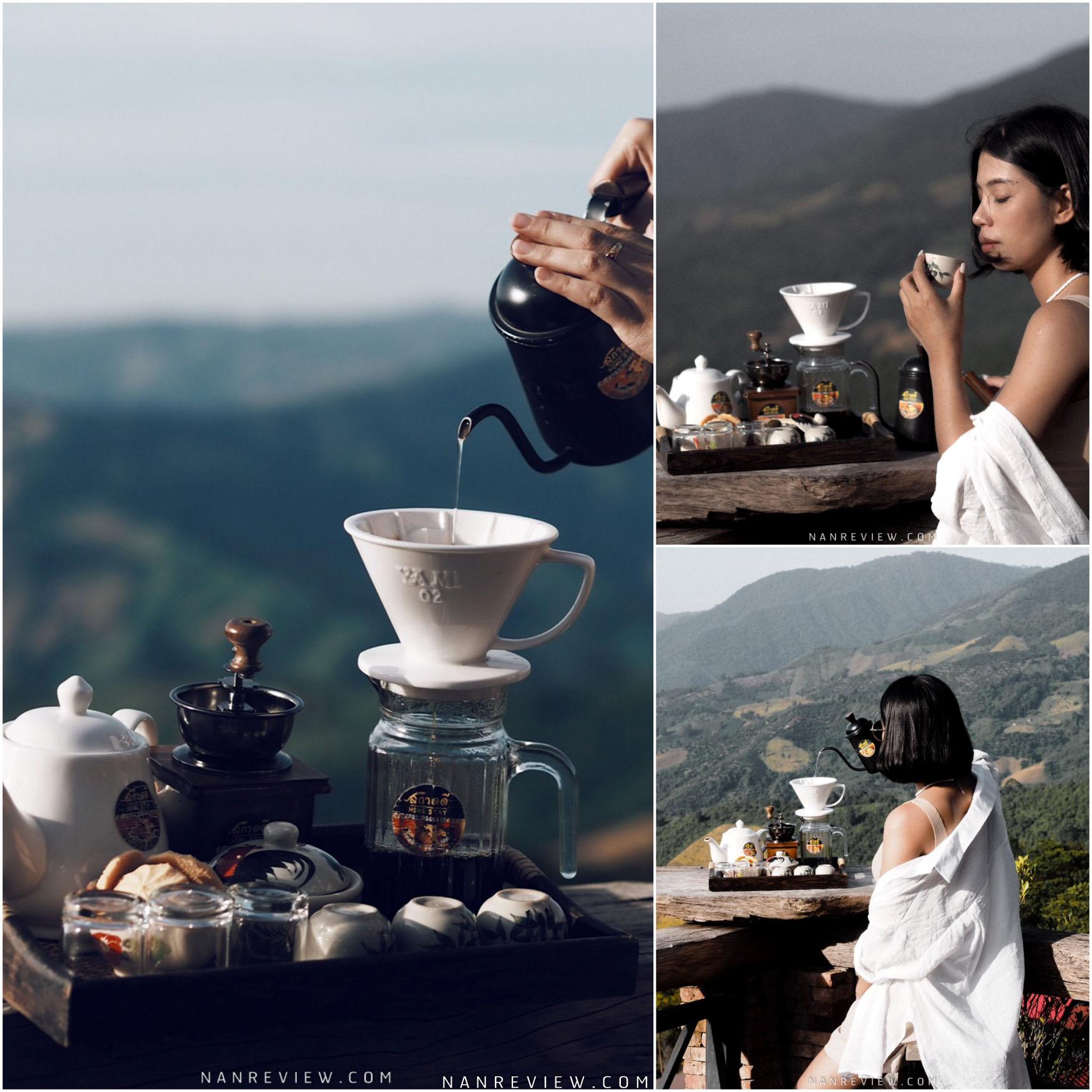 สกาดดีโฮมสเตย์ ราคาหลักร้อยวิวหลักล้านไปจิบชากินกาแฟหอมเข้มข้นแล้วรับลมท่ามกลางธรรมชาติป่าเขาวิวคือดีมวากก